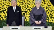 Japans Kaiser Akihito und Japans Kaiserin Michiko