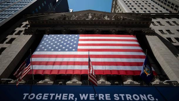 Amerikas Börse hakt die Krise ab