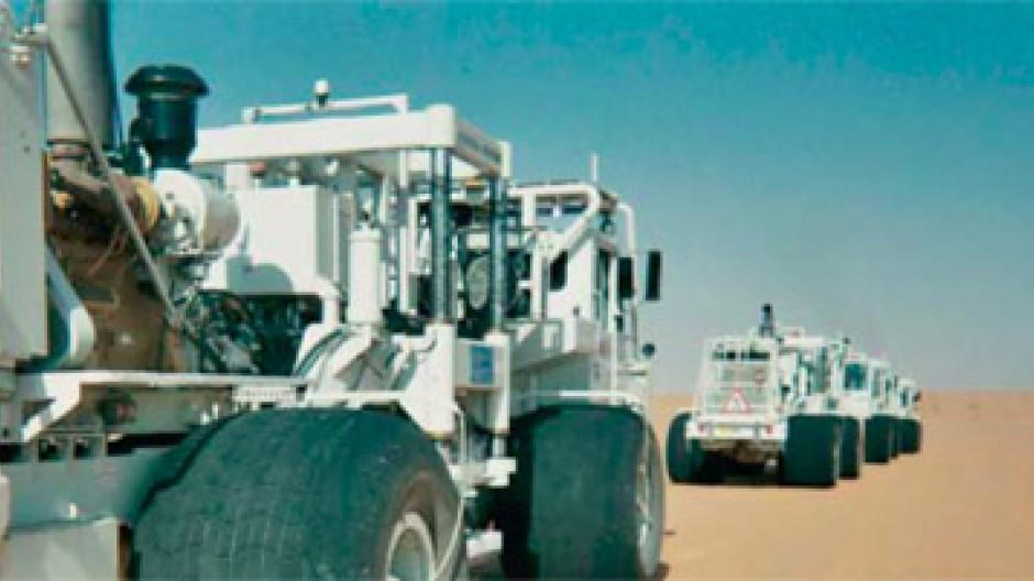 Seismische Ölsuche in Saudi Arabien