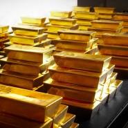 Goldbarren des Herstellers Umicore, der zum Joint-Venture hinter Xetra-Gold gehört.