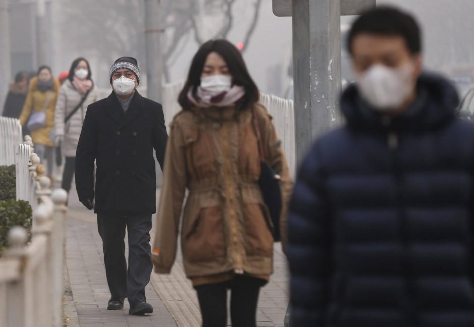 Extrem schlechte Luft: Ein solcher Anblick ist Alltag in vielen asiatischen Großstädten.