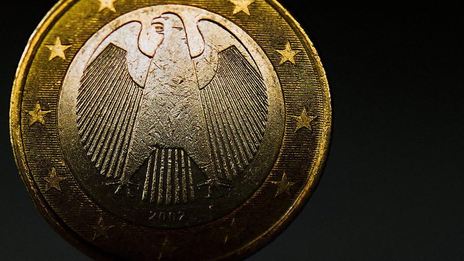 Euro-Münze mit Bundesadler