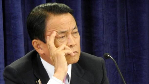 Abes Ohrfeige für seinen Finanzminister