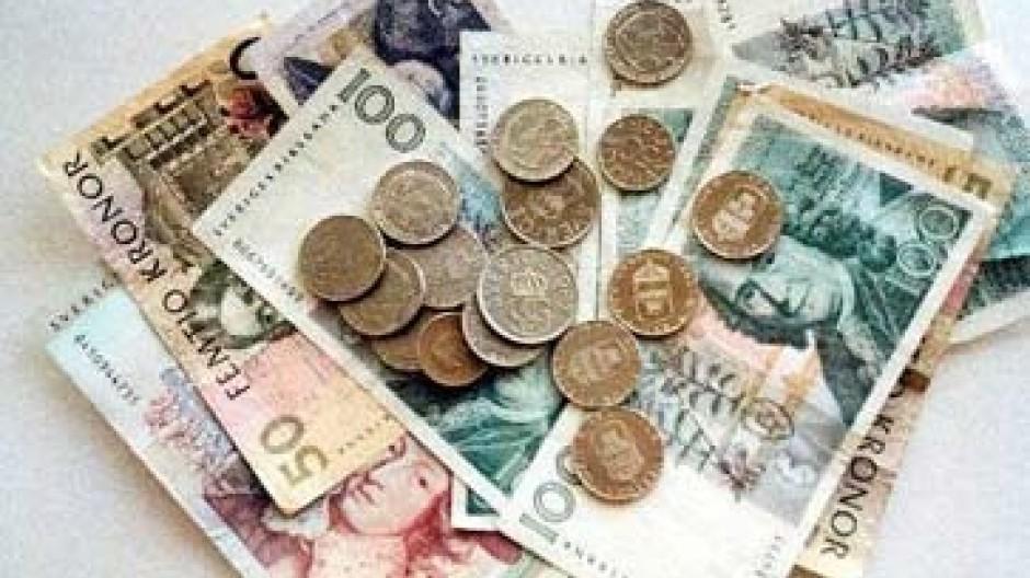 Schwedische Münzen und Scheine