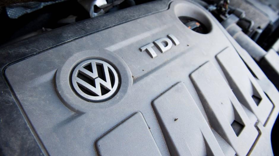 Ein vom Abgas-Skandal betroffener Dieselmotor von Volkswagen
