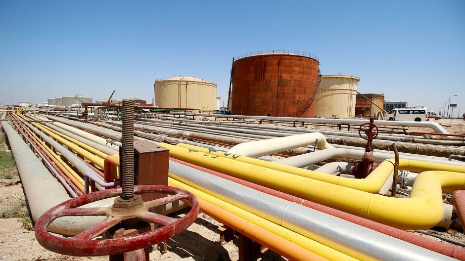 Ölfeld im Irak nahe Basra