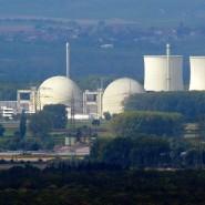 Blick auf das Atomkraftwerk Biblis in Südhessen, einst betrieben von RWE, mittlerweile stillgelegt.