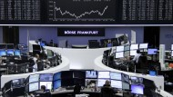 Am deutschen Aktienmarkt herrscht nach wie vor Unsicherheit - auch wenn auf diesem Bild die Dax-Kurslinie nach oben geht.