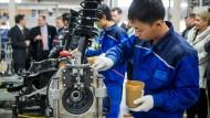 Chinesische Industrie tritt auf der Stelle