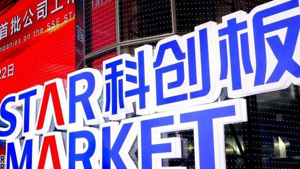 """Chinas neues Börsensegment """"Star"""" startet mit Kursfeuerwerk"""