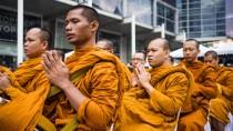 Buddhistische Mönche in Bangkok: Sie können ihre Impuls kontrollieren - deshalb wären sie gute Börsenhändler.