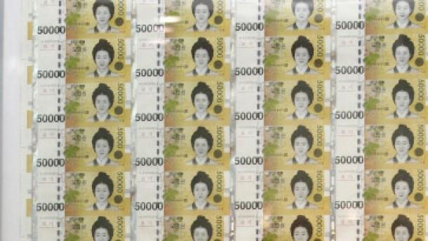 Koreanischer Won nach Zinserhöhung stärker