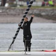 Greta Thunberg bricht zur Fahrt zum Klimagipfel in Amerika auf