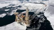 Ölplattform bei den Sachalin-Inseln