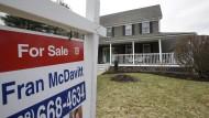 Begehrte Handelsobjekte: Amerikanische Einfamilienhäuser wie hier in Walpole in Massachusetts