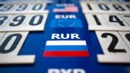 Russischer Rubel beschleunigt Talfahrt