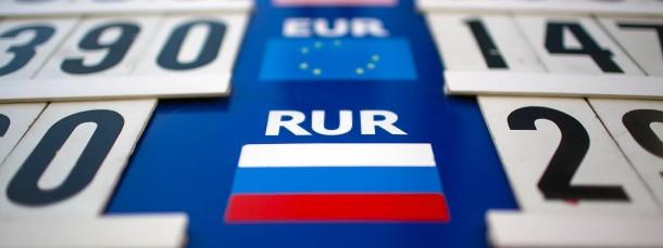 Der Kurs des Rubel hat am Dienstag ein Rekordtief erreicht.