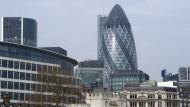 """Ein Wahrzeichen und eine Gurke: Das Londoner Hochhaus """"Gherkin"""""""