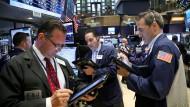 An der Wall Street freut man sich wieder über steigende Kurse.