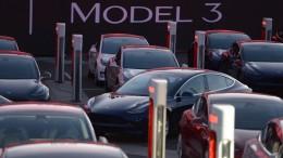 Ein Lastwagen von Tesla