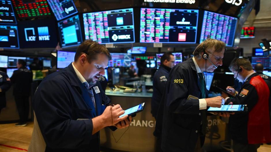 Szene vom Handel in New York