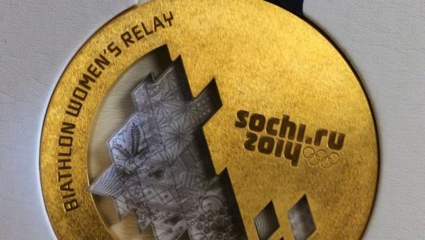 Eine Goldmedaille aus Silber