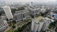 Indonesiens Hauptstadt Jakarta versinkt langsam, aber unaufhaltsam.