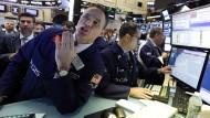 Was machen die Kurse? Händler auf dem Parkett der New York Stock Exchange