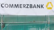Baustelle Commerzbank: Eine Filiale in Frankfurt wird renoviert