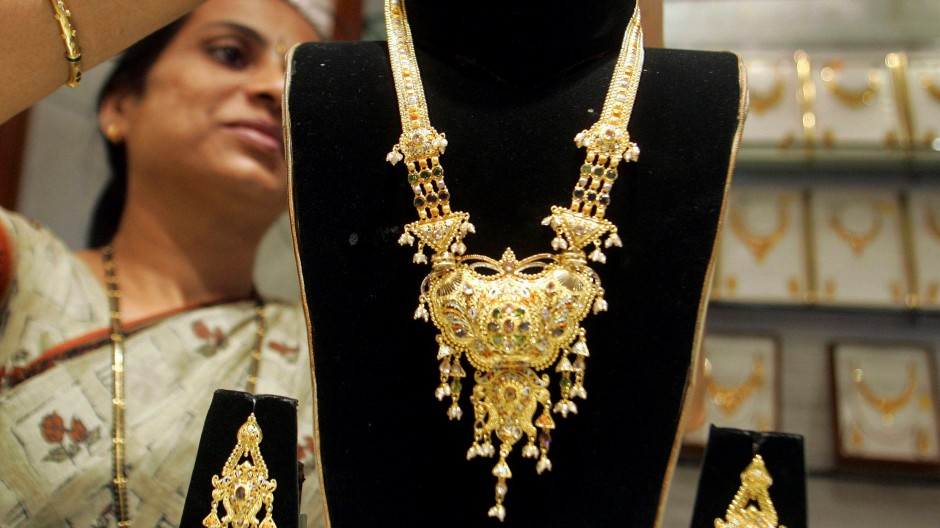 Begehrte Ware: Goldschmuck im indischen Mumbai.