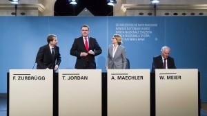 Jo-Jo-Spiel der Schweizerischen Notenbank
