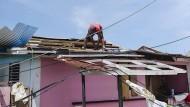 Aufräumen: Wirbelsturm Maria hat in der Karibik viel zerstört.