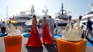Tummelplatz für Reiche: Der Jachthafen von Monaco.
