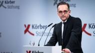 Heiko Maas spricht beim Berliner Forum Außenpolitik zu außenpolitischen Herausforderungen für Deutschland und Europa.