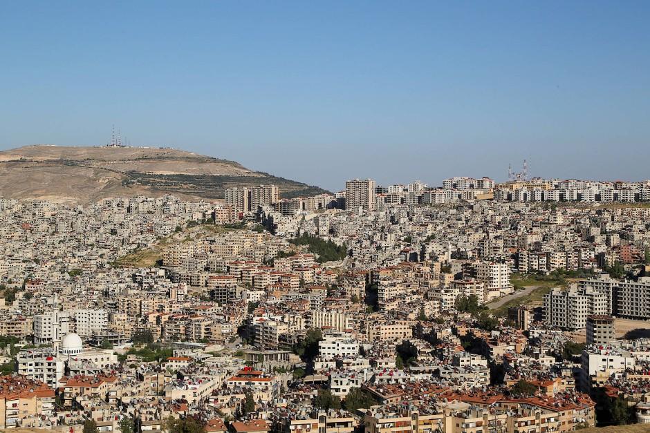 Blick auf die Stadt Damaskus.