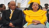Schon mit der neuen Frau an seiner Seite: Lesothos Premierminister Thomas Thabane bei seiner Amtseinführung im Juni 2017.