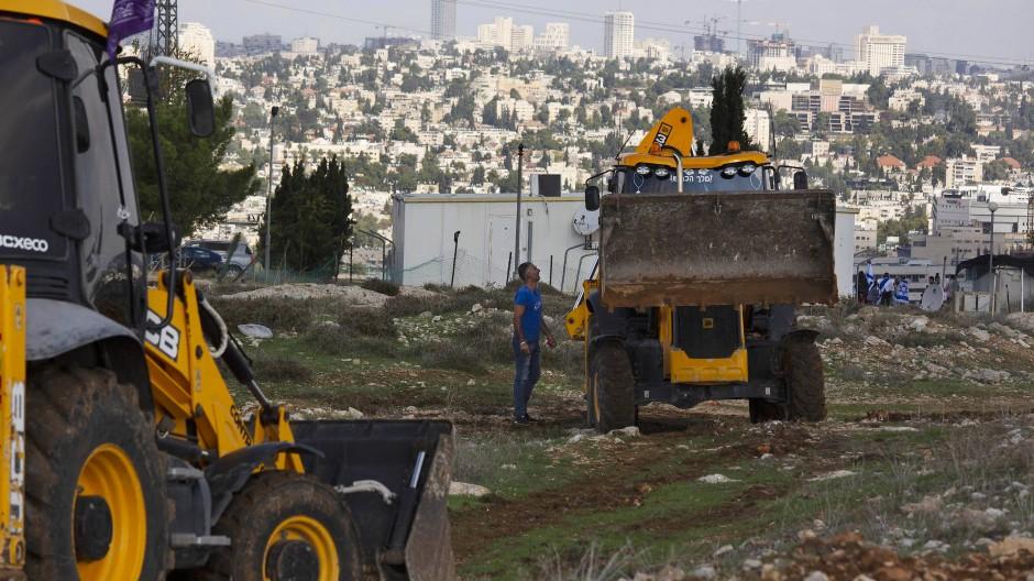 Baustelle in der Siedlung Givat Hamatos in Jerusalem am 16. November 2020