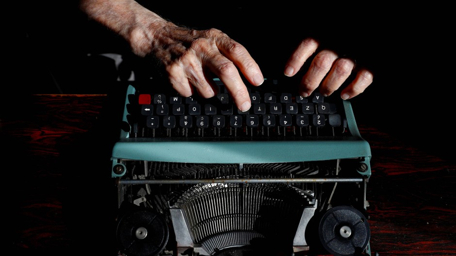 Seine Schreibmaschine bekam Paterno 1984 von seiner Mutter, nachdem er in den Ruhestand entlassen wurde.