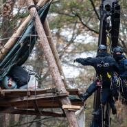 Dannenröder Forst: Wie die Polizei sich vorarbeitet