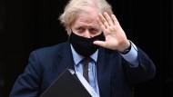 Boris Johnson am 16. März in London