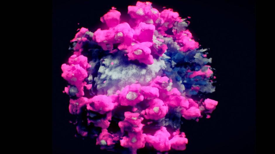 Ein Virus, das man von vielen Seiten betrachten kann: 3D-Abbildung eines Sars-CoV-2-Erregers