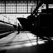 Kaum Verkehr am Frankfurter Hauptbahnhof