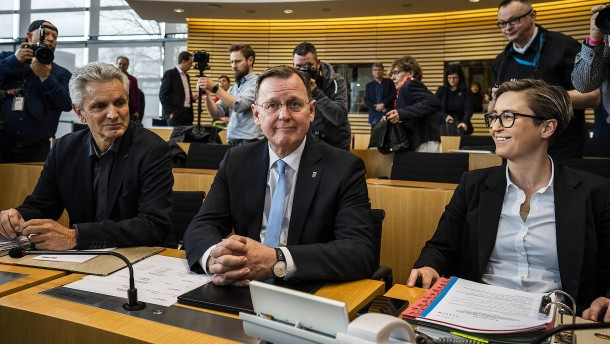 Ramelow im dritten Wahlgang gewählt