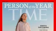 "Das Cover des ""Time Magazin"" mit Greta Thunberg als Person des Jahres."