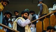 der Auftritt ihres Pressesprechers Zabihullah Mujahid am Dienstagabend in Kabul