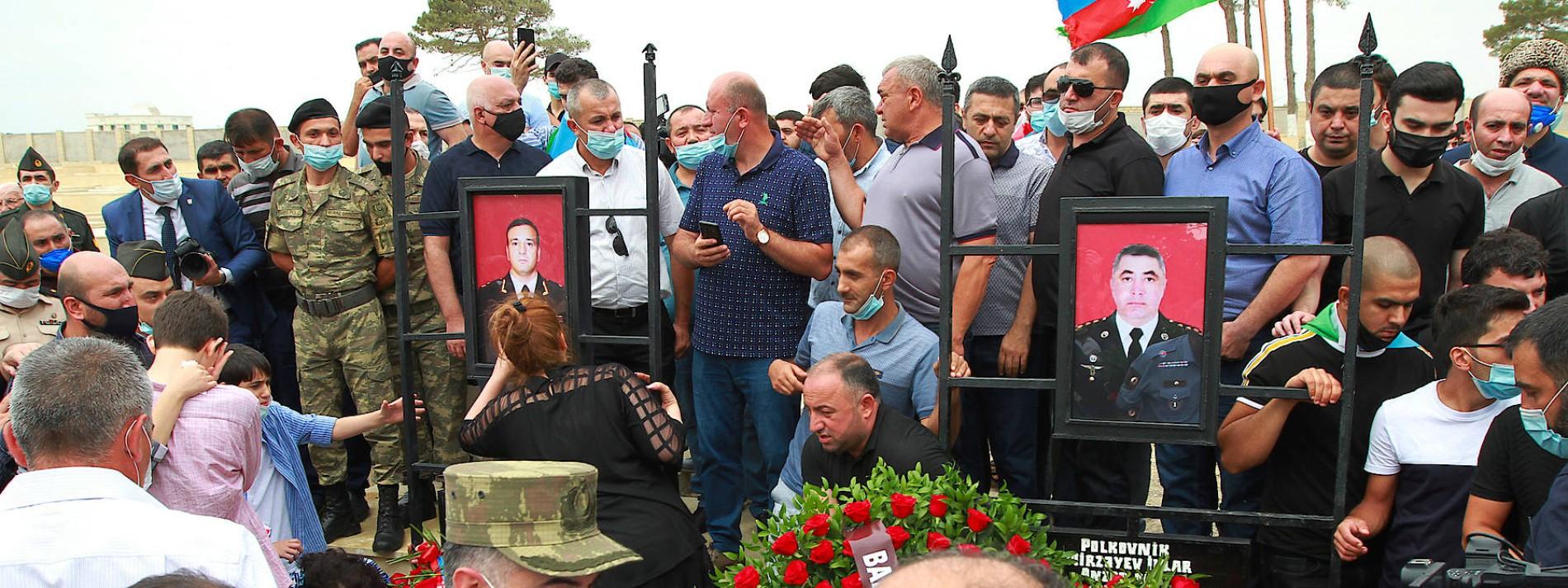 Lage An Aserbaidschanisch Armenischer Grenze Eskaliert