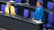 Bundeskanzlerin Angela Merkel am 23. Juni 2021 im Bundestag.