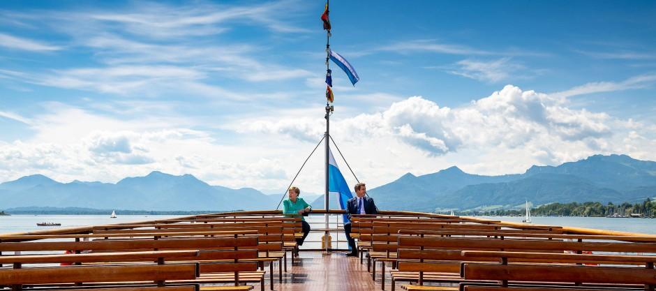 Merkel und Söder fahren zur Insel Herrenchiemsee