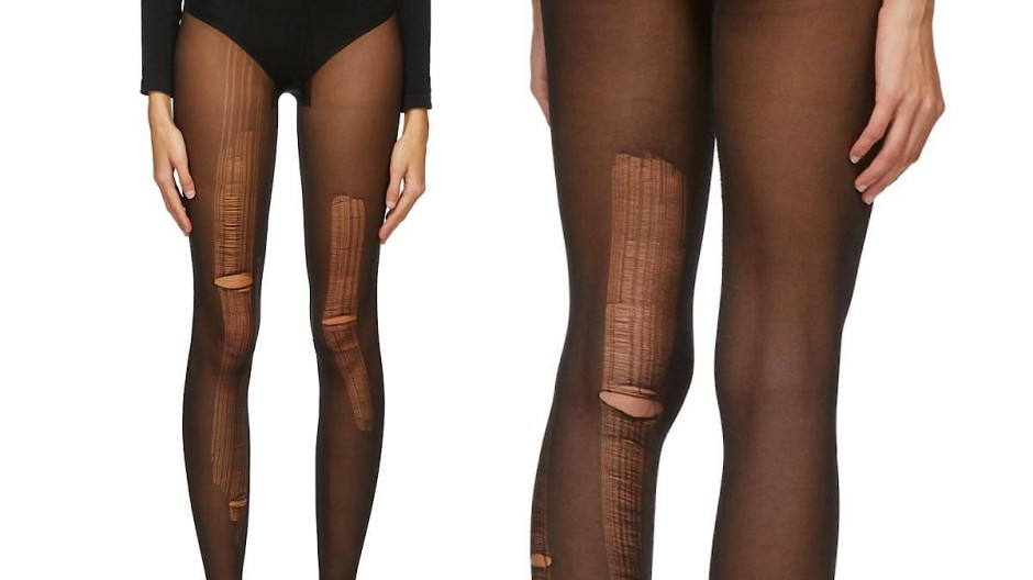 Die Black Distressed Tights von Gucci.