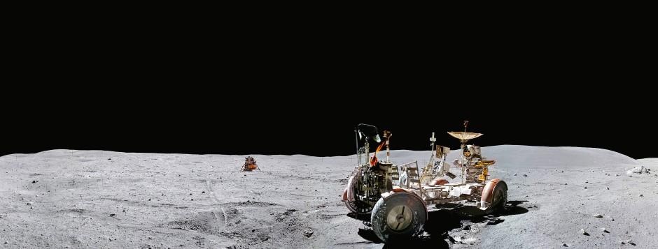 Das Mondauto von Apollo 16: Damit erkundeten John Young und Charles Duke im April 1972 den Mond.